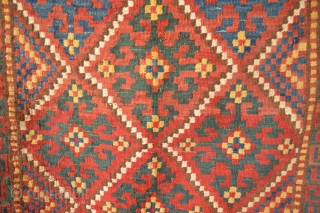 Beautiful and decorative Uzbek probably Bagface  76 x 71 cm All Natural colors.