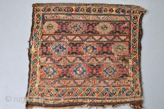 Rare 19th century Shahsaven Tribe Bagface, Great Patern and Great 100% Natural colors coroded brown as found. one stain as see on the picture.soft handling size approx 53 x 53 centimeters