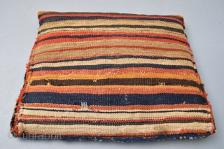 Beutiful Strong all vegetal colors , Full pile Kurdish Pillow 