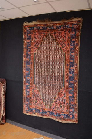 Beautiful Antique Kurdish Rug  Circa 1900 , All Natural Colors and good pile Original condition washed and cleaned ends are original and intact. 