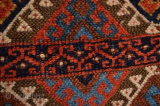 Music for the eyes,(California Soul from Merlane Shaw ;) mid 19 th century Kurdish Rug Beautiful Patern , All Natural vegy Colors.
