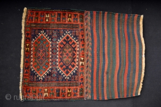 Top Qualty 19th century  Kurdish Bagface with original kilimback All natural colors and very good wool 72 x 50 centimeters without kilimback Music for the eyes