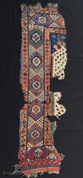 """West Anatolian (Karakeçili) - fragmet Rug Size:170x52 cm / 5'8""""x1'9"""" / 68x 21 inc"""