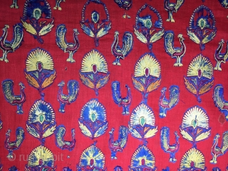 İndian Mochi Textiles 19th Century Size:100x52cm/ 40x20 inches