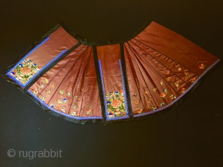 """Chinese-silk-embroidered-wedding-skirt 19th Century Size:105x85cm / 3'6""""x2'10"""""""