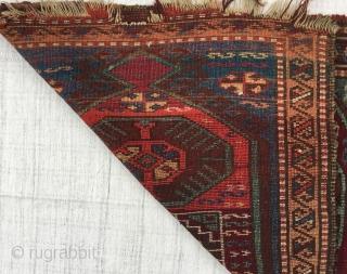 "a Kurdish Yastik, East Anatolia, 19th centuru Size:90x67cm / 3""x2'3"" /  36x27inches"