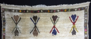 "Central Anatolian Tulu Rug Size:149x115cm / 4'10""x3'9"""