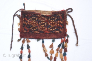 early 20 Century Turkmen Yamud small torba.38 x 24 cm
