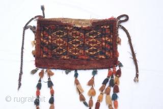 early 20 Century Turkmen Yamud small torba.38 x 24 cm  15 x 9 inches