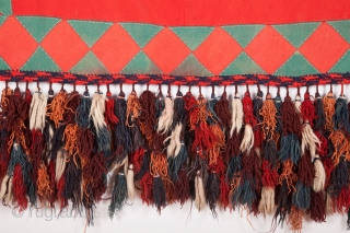 Turkmen asmalyk-felt baking and with excellent tassels 