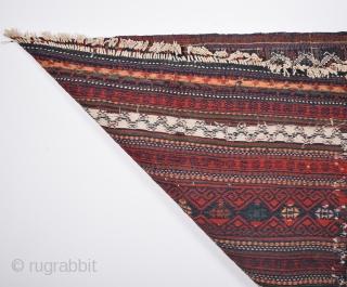 """Beluch Kilim rug,19th century  size:220 x 125 cm          4'0"""" x 7'2"""""""