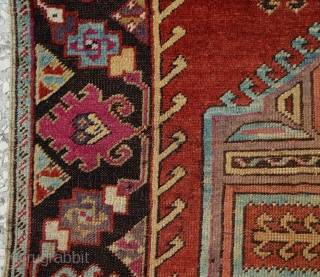 "Central Anatolian 19th Century Kirsehir rug Size:160 x 112 Cm 5'3""x3'8"" Please take the time to view my other pieces. Thank you."