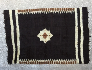 "Siirt Blanket-Southeast Anatolia-early 20th century-Angora goat hair on cotton string warps-excellent condition Size:198x133cm / 6'6""x4'4"""