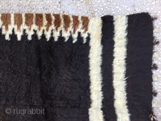 """Siirt Blanket-Southeast Anatolia-early 20th century-Angora goat hair on cotton string warps-excellent condition Size:198x133cm / 6'6""""x4'4"""""""