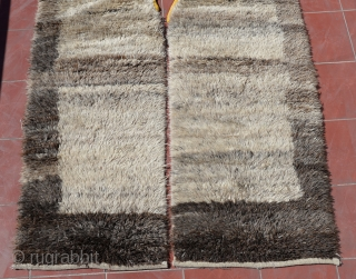 """Central Anatolian Vintage Shepeard's Kepenek ( coat ),Very good condition and natural dyes…thanks you for view our stuff:)) Size:298 x 145 Cm 9'9""""x4'9"""""""