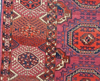 "late 19th  Century  Tekke-main-carpet. It shows the ""Salor-Gül'"" 330x200 cm