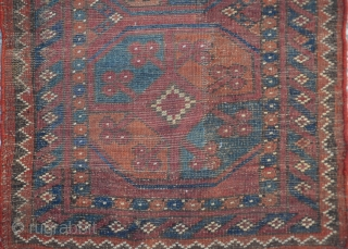Old Ersari Yastik with two guls size:62x54cm