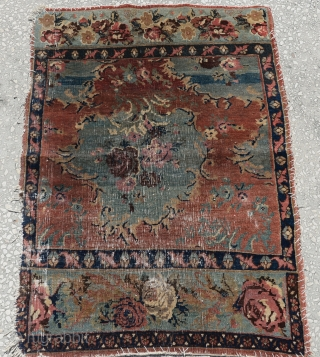 Antique small Sampler Bijar rug size:110x80cm