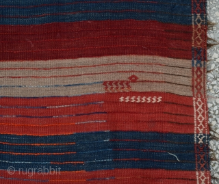 "East Anatolian, Adiyaman Tulu Rug , Early 20th Century Size:442 x 142 Cm        14'9""x4'7"""