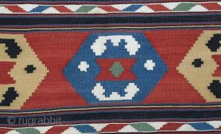"End of 19th Century Caucasian kilim size:257x186 cm  8'8""x6'4"""