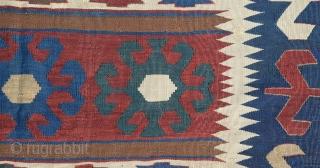 "Caucasian Kazak Kilim, Circa 19th Century(some place had been repaired) size:246x178 Cm 8'4""x6"""
