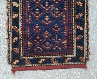 Antique Caucasian Bagface Carpet   Size:54 x 47 Cm