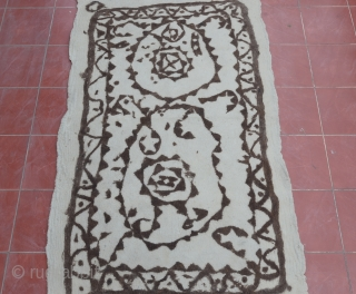 Evocative, primitive and interesting. Central Anatolian (Toros mountain) Felt rug Circa 1920-1930