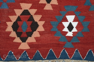 Antique Caucasian Kazak Kilim Great Colors 