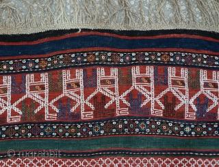 """Caucasian 19th Century Verneh Kilim Size:171 x 263 Cm         5'7""""x8'7"""""""