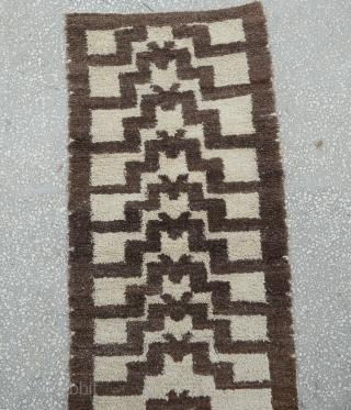 "Central Anatolian  Turkmen tribal tulu rug, early 20th cent. soft shiny angora mix fine wool pile. Size:80 x 173 Cm 2'7"" x  5'7"""