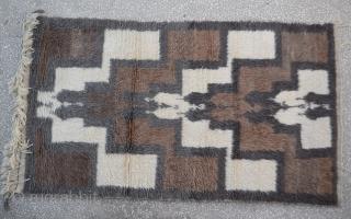 Central Anatolian  Angora Tulu Rug Size:116 x 200 Cm                         ...