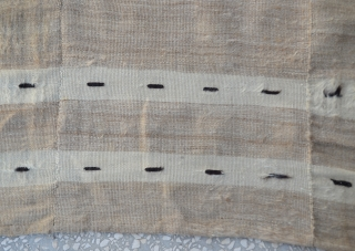 Southeast Anatolian-early 20th century-Angora goat hair on cotton string warps-in good condition-unusual-3 panels Siirt Size:138 x178 Cm                  ...