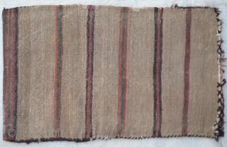Baluch Balisht (pillow-bag), Mushwanni tribes, south-east Persia. Complete with stripe light brown -weave back and in good pile 
