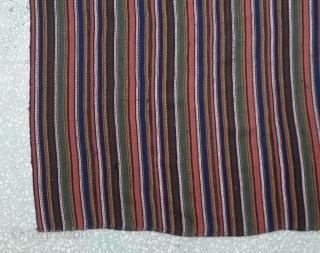 "Shahsavan Striped Kilim  Size:194 x 234Cm        6'6""x7'9"""
