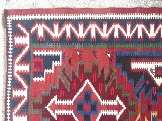 "Caucasian Kuba Kilim 19th Century size:244x170cm / 8'x5'7"""