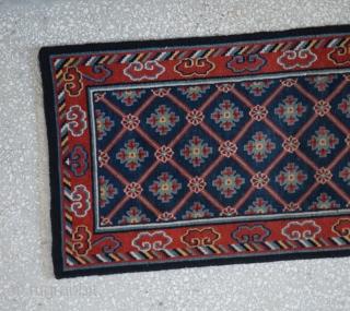 "Tibetan Rug-Circa 1900 Size:72 x 160 cm       2'4""x  5'4"""