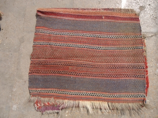 Qashqai Bagface with original beautiful Kilim backing.All natural colors.E.mail for more info and pics.