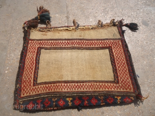 "Qashqai Bagface with original backing all natural colors and unusaul weaving.Size 1'9""*1'4"".E.mail for more info and pics."