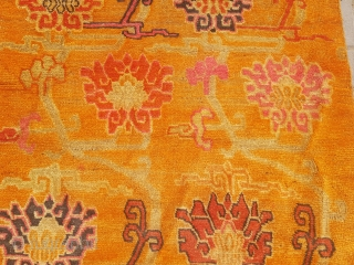 Tibet mat with good age colors and design, all original.E.mail for more info and pics.