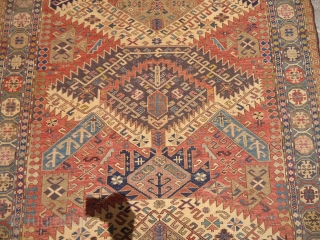 "Caucasian Dragon Soumac fine weave and nice colors,beautiful design,very good condition.Size 4'11""*3'7"".E.mail for more info and pics."