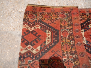 "Beautiful jalor with all good natural colors good age and shining wool,all original.Size 4'*1'6""..E.mail for more info and pics."