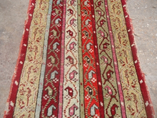 "Yastik with beautiful stripe design and good colors,as found without any repair or work done.Size 3*1'6"".E.mail for more info and pics."