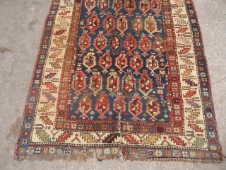 """Marsali Shirvan Rug as found with good colors and design,Size 5'9""""*3'9"""".E.mail for more info and pics."""