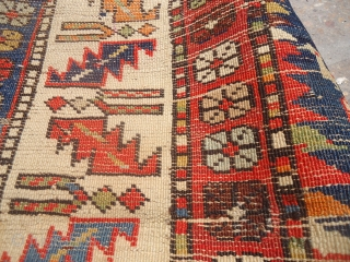 "Marsali Shirvan Rug as found with good colors and design,Size 5'9""*3'9"".E.mail for more info and pics."