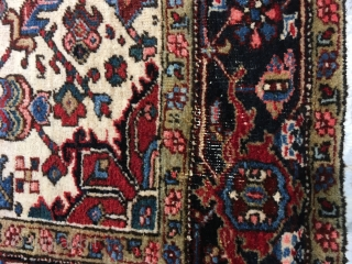 "Persian Rug! Size 8'.6"" x 5'-10"". Very usable and hard to find size...