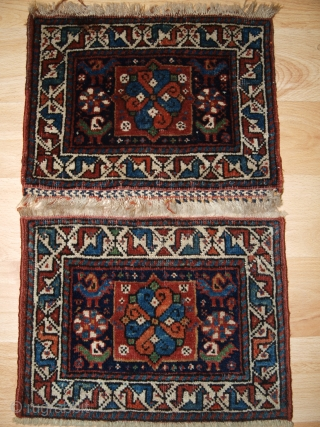 Pair of small chanteh or miniature Khorjinfaces, South West Persian.