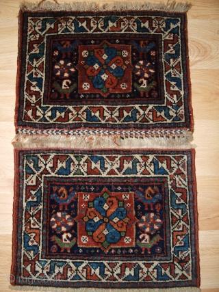 Pair of small chanteh or miniature Khorjinfaces, South West Persian. Size: 32 x 24cm each.