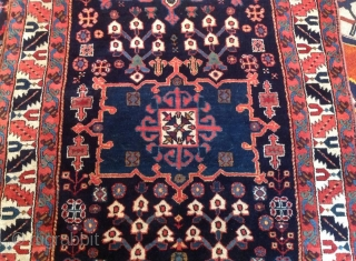 This beautiful runner has just arrived with me, North West Persian / Shahsavan; really outstanding wool quality and colours. The warp is hand spun wool and the weft is very fine, 2  ...