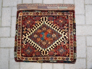 Just arrived at the shop, the best pair of Qashqai Khorjin that I have handled for a long time, perfect condition, very soft wool, great colours, complete with plain weave backs. Purchased  ...