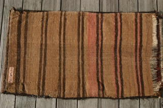(22) Beludj balisht, 50 x 89 cm., with woven back, perfect condition, saturated dyes incl. aubergine.  -Kolya